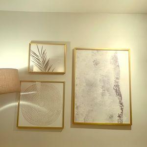 Framed printed wall art